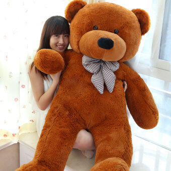 Harga Dark Brown Stuffed Animal Teddy Bear Plush Soft Toy 80CM Huge SoftToy