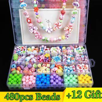 DIY Kids Beads Colorful Acrylic Bead for Kids Children Necklace and Bracelet Crafts
