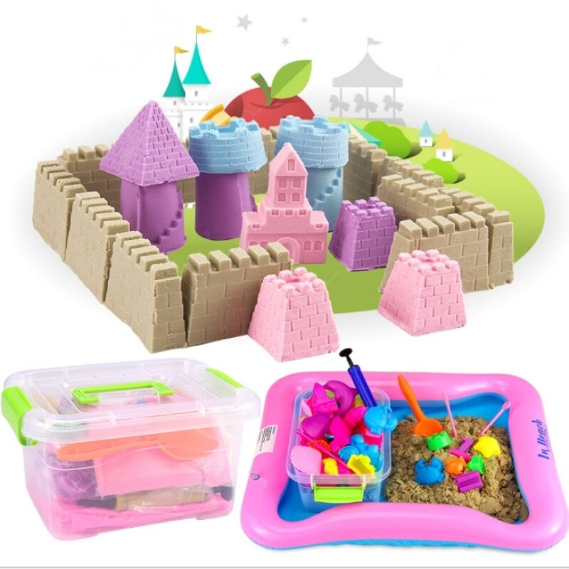 Buy DIY Kinetic Space Sand With Colors (2kg) Theme Wooden Toy Building Blocks Puzzle milk lego rc games bricks (Sand) Malaysia