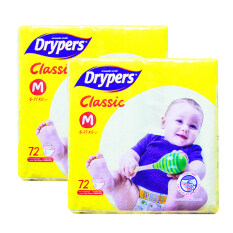 Drypers Classic Family Pack 6-11kg -M72 2 pack