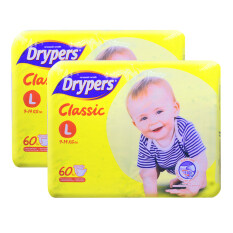 Drypers Classic Family Pack 9-14kg -L60 2 pack