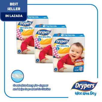 Drypers Wee Wee Dry L62 x 3 packs (186pcs)