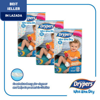 Drypers Wee Wee Dry XL50 x 3 packs (150pcs)