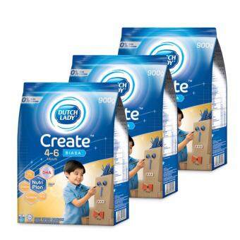 Dutch Lady Create 4-6 (Honey) Milk Powder 900g (3 packs)