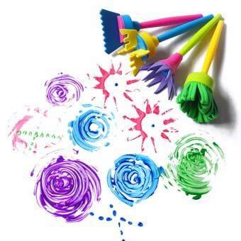 Fantastic Flower 4 Pcs Children Painting Brush Flower Stamp KidsDIY Graffiti Drawing Toys Cheaper & Better