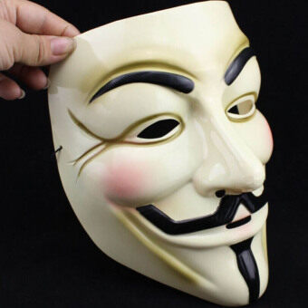 Harga Fashion Yellow V For Vendetta Mask Guy Fawkes Anonymous HalloweenMasks Fancy