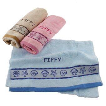 FIFFY 100% Cotton Baby Bath Towel (Blue) - 2