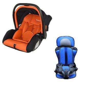 Harga GB887 Baby Carrier Carseat (Red) + Baby and Children Car SafetySeat Cushion (Blue)