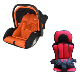 Harga GB887 Baby Carrier Carseat (Red) + Baby and Children Car SafetySeat Cushion (Red)