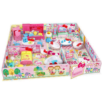 Harga Hello Kitty mushroom house play games toys