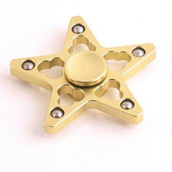 High Speed Hand Spinner New Anti-Anxiety Five-pointed Star HandSpinner(Gold)