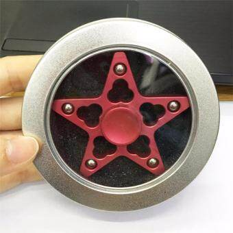 High Speed Hand Spinner New Anti-Anxiety Five-pointed Star HandSpinner(Red)