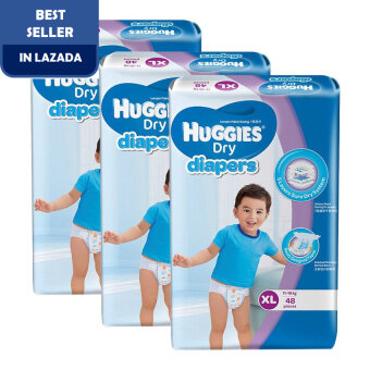 Huggies Dry Diapers XL48 x 3 Super Jumbo pack