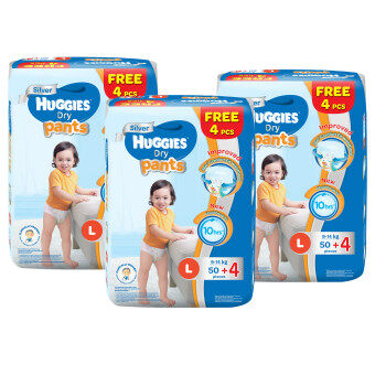 Huggies Dry Pants L50+4 x 3 Super Jumbo pack