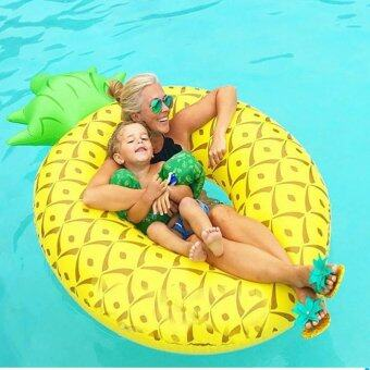 Harga High Service Giant Pineapple Inflatable Pool Float Swim Ring for Water Fun Lounge Toy,Summer Water Bed Giant Summer Gifts