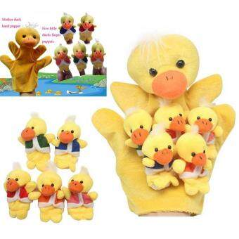Harga PAlight Cute Five Little Ducks Animals Hand Finger Puppets Story Telling Nursery Fairy Tale Kids Birthday Christmas Gift - intl