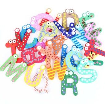 Harga Fancytoy Wooden Magnet Baby Educational Toy A-Z Alphabet 26 Letters