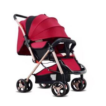 Harga Baby Strollers Baby Chair Baby Safety Chair Light Weight Multifunction Baby Carrier (Wine Red)