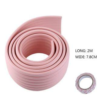 Harga 1Pcs 2M W-Shape Baby Safety Care Table Edge Corner With 4M Tape Pink