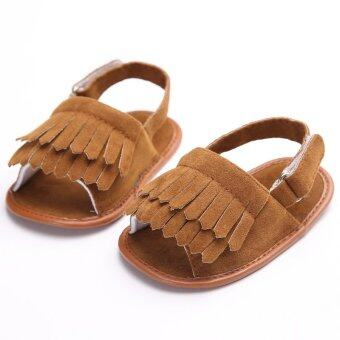 Harga Toddler Newborn To 18 Months Soft Sole Slip On Brown Baby Boys Girls Cute Sandals Summer Cotton Shoes S1491