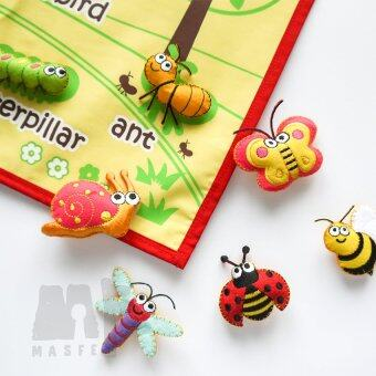 Harga Handmade Insect Wall Chart, Insect Learning Wall Chart, Christmas Gift for Kids, Montessori Gift, Baby Learning Material by MasfeMy