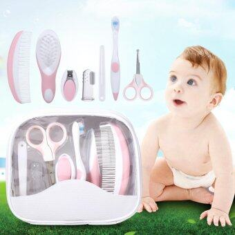 Harga 7 Pcs / Set Baby Grooming Care Manicure Set Healthcare Kit Baby Infant Daily Nurse Tool (Pink)