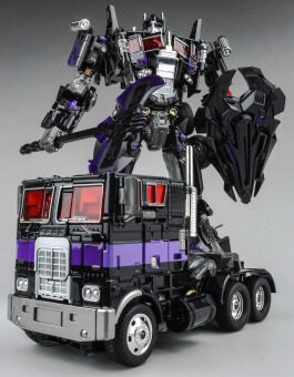 Harga Transformers WeiJiang Autobot metal Optimus Prime (Dark Black) M01 Alloy Apple flat head Commander Action Figure Toys
