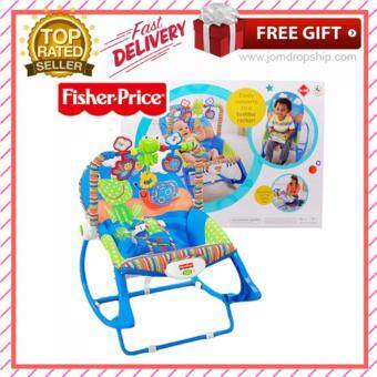 Harga Baby to Toddler Rocker Chair Froggie Fisher Price Vibration Bouncer infant rocker music chair Christmas gift Fullmoon Birthday Gift