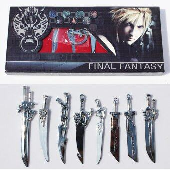 Harga 8pcs/set Anime Final Fantasy Sword Metal Weapons Toys with Box