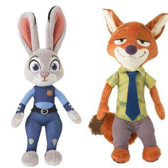 Harga 1pcs 30cm Zootopia Police Rabbit Judy Hopps Plush Dolls Fox Nick Wilde Movie Kids dolls stuffed toys Plush Zootopia Dolls