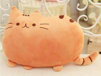 Harga Cute Biscuits Big Tail Fat Cat Meow Star Doll Pillow Creative Cat Plush Toys Birthday Gift- Orange