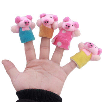 Harga Hanyu Kids Finger Doll Puppet Toys Fairy Tale 3 Little Pigs Story Multicolor