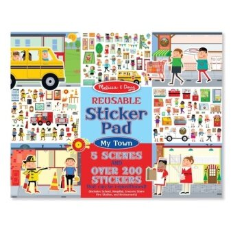 Harga MELISSA & DOUG My Town Reusable Sticker Pad
