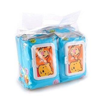 Harga Disney Cuties Wet Wipes Value Set 80PCS - Tigger & Pooh