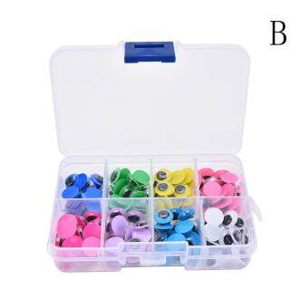Harga 160/200Pcs/Box DIY Doll Eyes Plastic Wiggly Wobbly Googly Eyes Color Mixed Style B