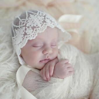 Harga Newborn Baby Girls Lace Photography Prop Lace Floral Hats