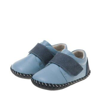 Harga Little Blue Lamb Soft Cow Leather, Comfy Blue Baby Shoes
