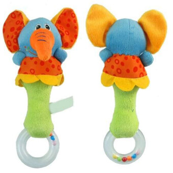 Harga Fancytoy Lovely Baby Kid Developmental Toy Soft Animal Model Handbell Rattles Handle Elephant