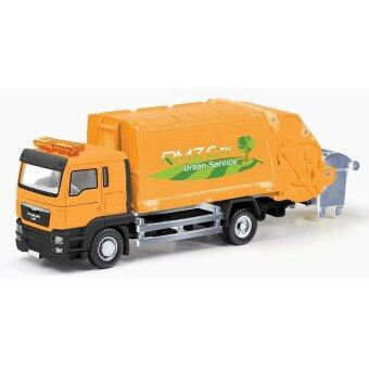 Harga RMZ City DIECAST 1:64 MAN Garbage Truck Collection Model Collection (Orange)