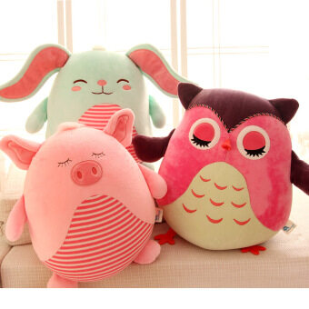 Harga Cute owl pig rabbit plush doll ball bear doll