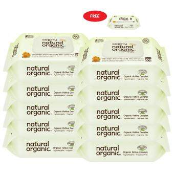 Harga Natural Organic Baby Wipe Original Plain 100'S (10 Packs) Free 10'S