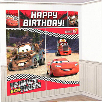 Harga Amscan Cars Lightning McQueen Happy Birthday Scene Setter Photo Booth 6ft