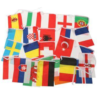 Harga 24 National Team Flags Banners Bunting For 2016 France Euro Cup Football Soccer