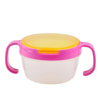Harga Children Babies Kids Snack Catchers Bowl Snack Container Holder with Two Handle Rosy - Intl