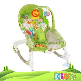 Harga Kido House - Fisher-Price BCD30 Newborn-to-Toddler Protable Rocker Chairs (GREEN)