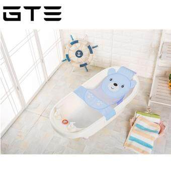Harga GTE Newly Baby Bathtub Net Cartoon Bear Infant Bath Tub Mesh Seat Support Bath Seat Adjustable Bathtub Security Seat - Blue
