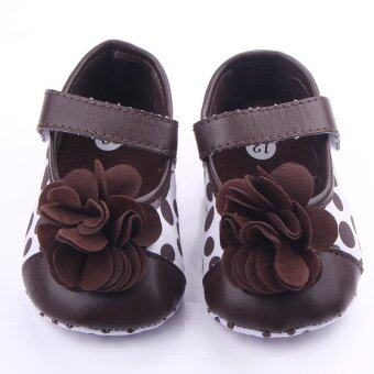 Harga Eozy big flower Style Baby Newborn Toddler Infant Sandals Toddler First Walkers Newborn Baby Girls Kids Prewalker Shoes (Coffee)