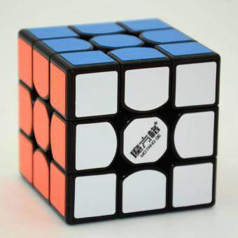 Harga 360DSC QiYi MFG 3x3x3 New Thunder Clap Speed Magic Cube Puzzle with PVC Stickers - Black