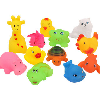 Harga Fancytoy Cute Baby Wash Bath Play Animals Toys Soft Rubber Float Sqeeze Sound