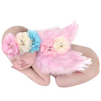 Harga Baby Girls Angel Wings Wing Set Feather Newborn Photography